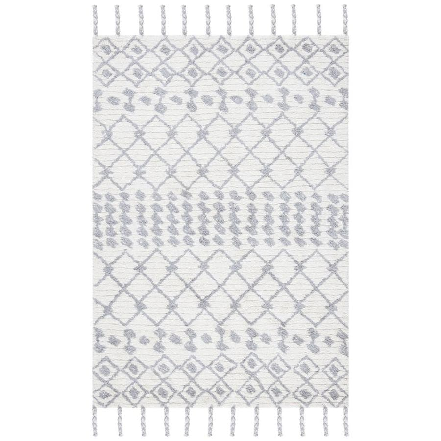 Safavieh Casablanca Glenda 4 X 6 Ivory Silver Indoor Abstract Handcrafted Area Rug In The Rugs Department At Lowes Com