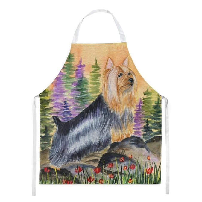 Caroline S Treasures Silky Terrier Apron In The Cooking Apparel Department At Lowes Com