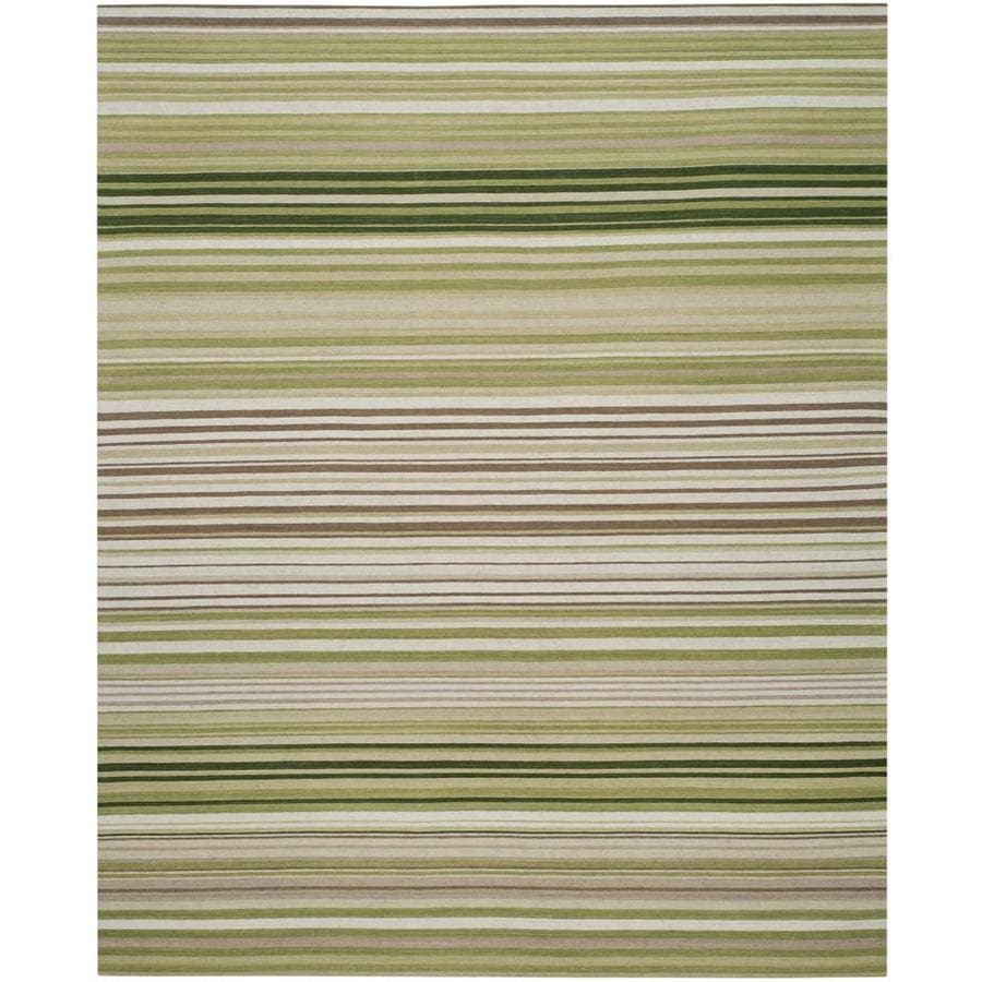 Safavieh Marbella Delfa 8 X 10 Green Indoor Stripe Farmhouse Cottage Handcrafted Area Rug In The Rugs Department At Lowes Com