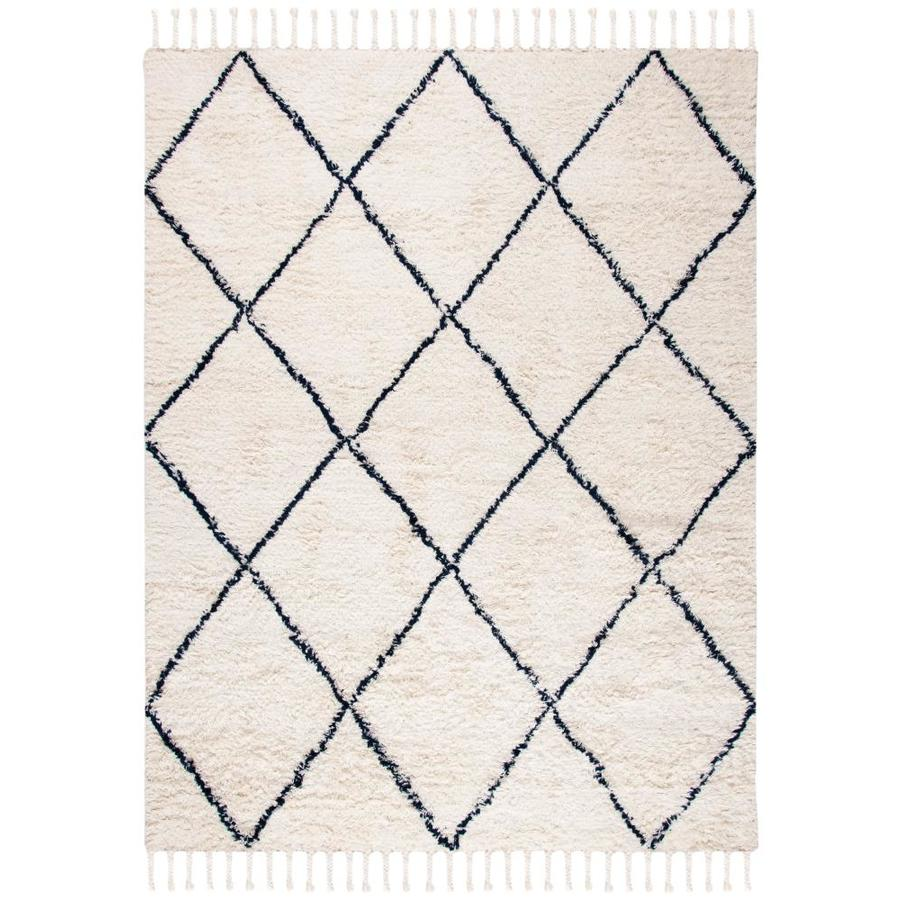 Safavieh Casablanca Taake 8 X 10 Navy Ivory Indoor Abstract Moroccan Handcrafted Area Rug In The Rugs Department At Lowes Com