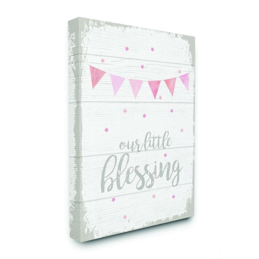 Our Little Blessing Pink Kids Word Design Wall Art At Lowes Com
