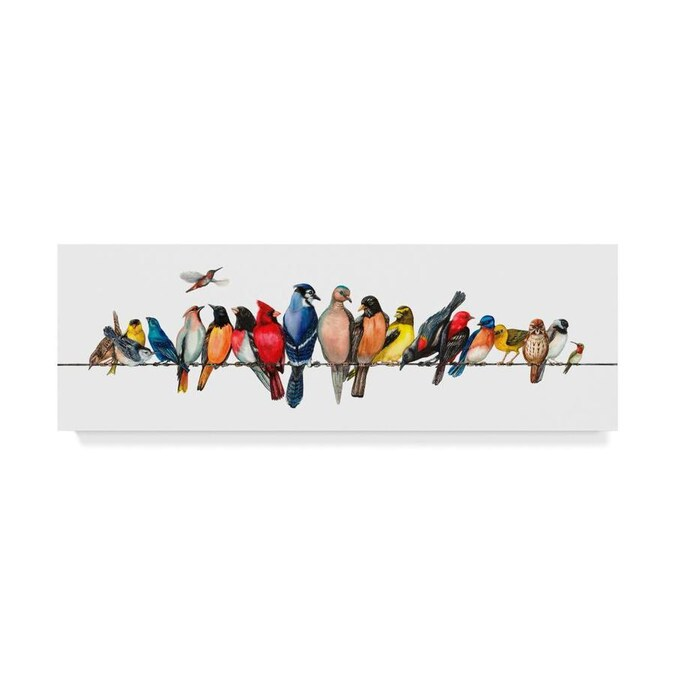 Trademark Fine Art Animals Framed 6 In H X 19 In W Animals Canvas Print In The Wall Art Department At Lowes Com