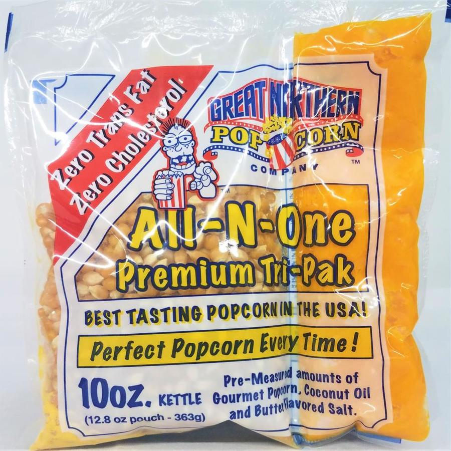 Great Northern Popcorn Great Northern Popcorn 10 Ounce All In One Popcorn Packs Case Of 24 Kernels Salt Seasoning And Coconut Oil Portion Kits In The Snacks Candy Department At Lowes Com