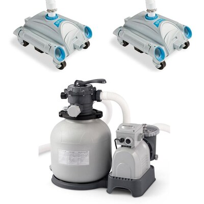 2 Pack Intex 3000 GPH Above Ground Pool Sand Filter Pump w// 1.5 Inch Pump Hose