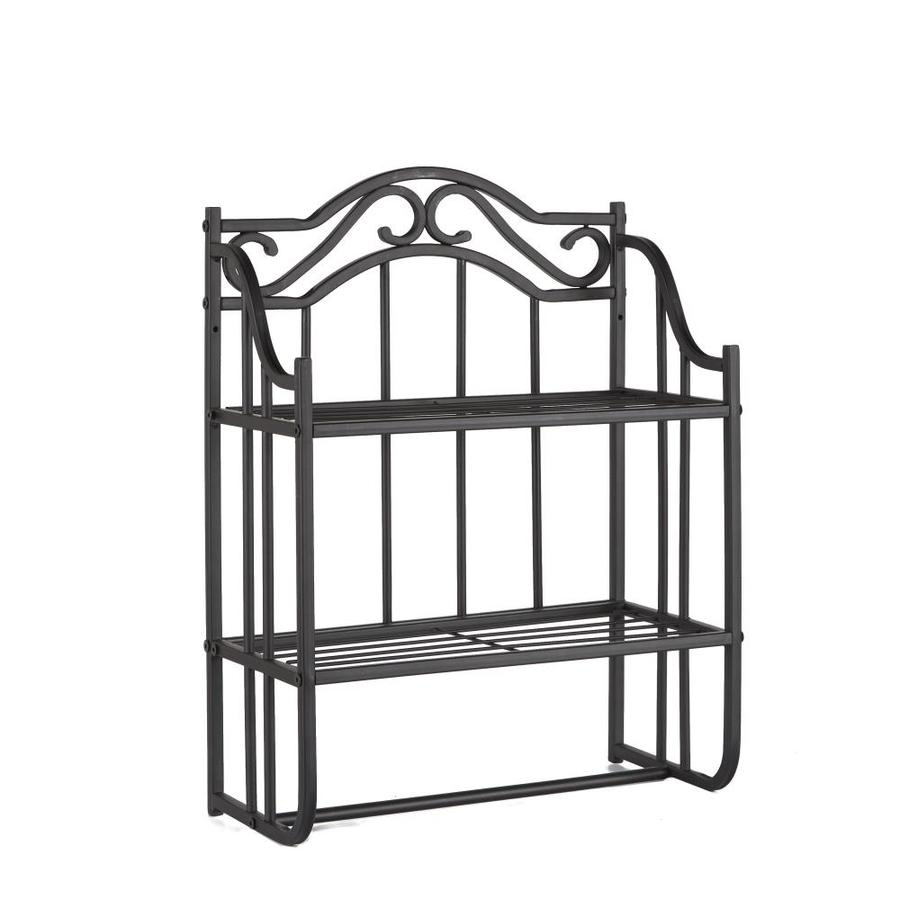 Silverwood Collins Oil Rubbed Bronze 2 Tier Metal Wall Mount Bathroom Shelf In The Bathroom Shelves Department At Lowes Com