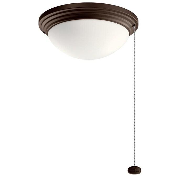 Kichler 2 Light Coffee Mocha Led Ceiling Fan Light Kit In The Ceiling Fan Light Kits Department