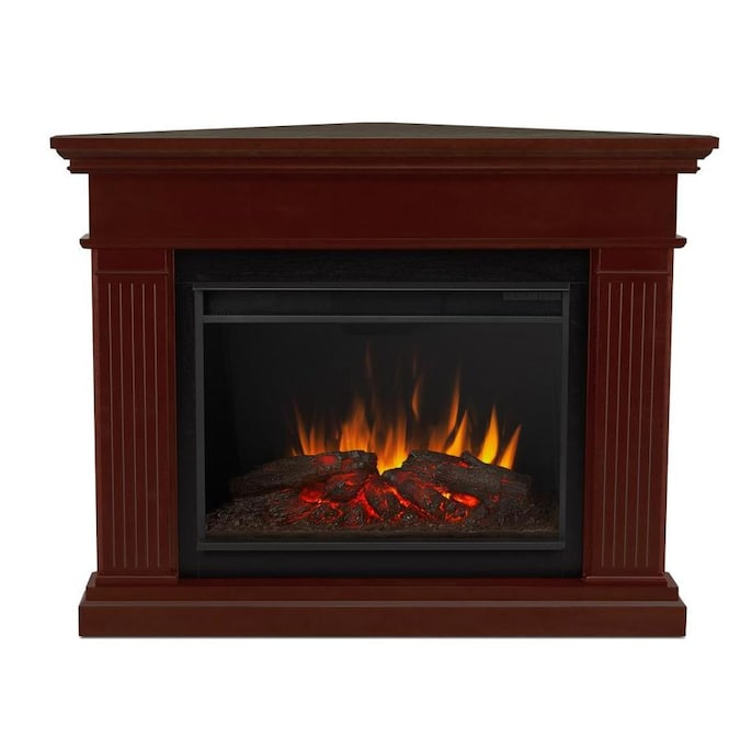 Real Flame 55 5 In W Gray Fan Forced Electric Fireplace In The Electric Fireplaces Department At Lowes Com