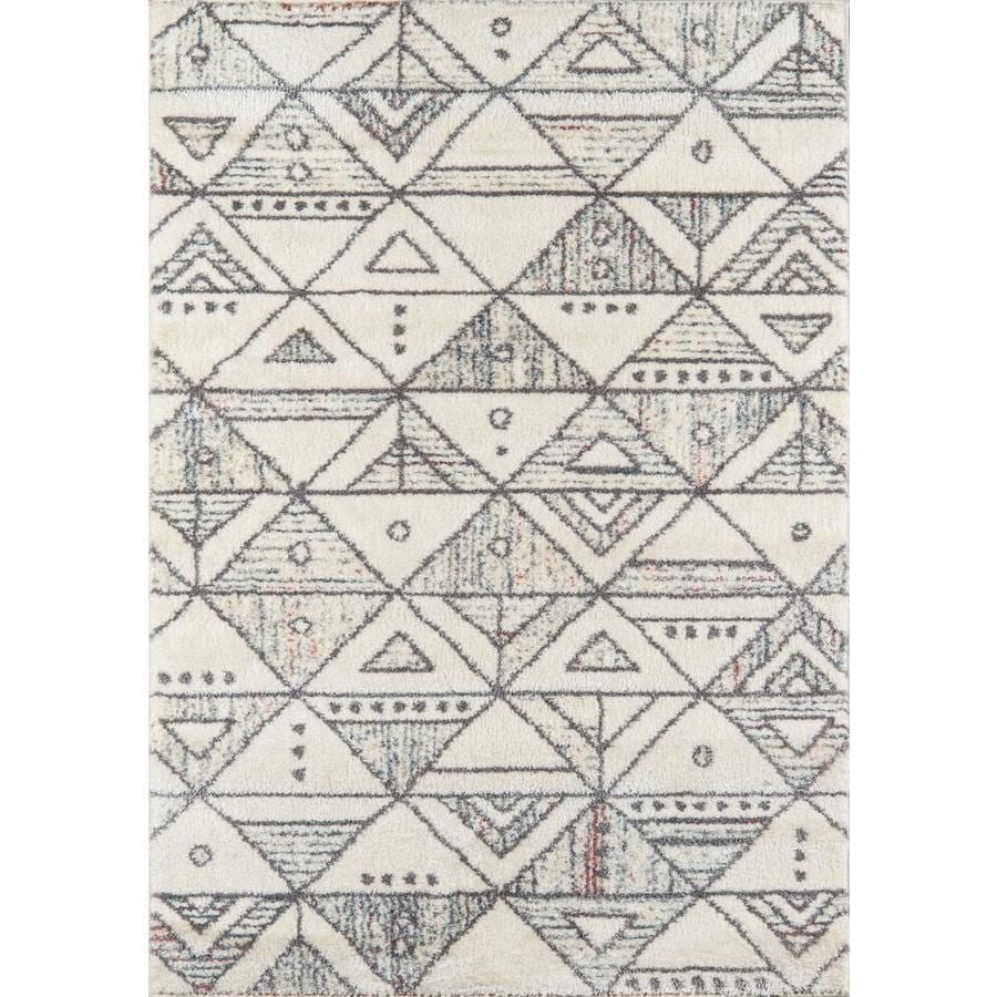 Momeni Lima 5 X 8 Ivory Indoor Geometric Area Rug In The Rugs Department At Lowes Com
