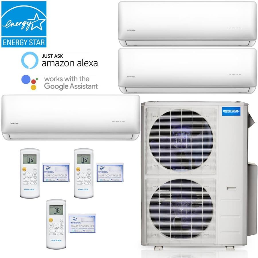 Mrcool 42000 Btu 203 Volt 12 5 Eer 3 5 Ton 1750 Sq Ft Smart Ductless Mini Split Air Conditioner With Heater In The Ductless Mini Splits Department At Lowes Com