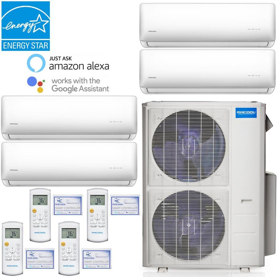 Mrcool 39000 Btu 203 Volt 12 5 Eer 3 25 Ton 1250 Sq Ft Smart Ductless Mini Split Air Conditioner With Heater In The Ductless Mini Splits Department At Lowes Com
