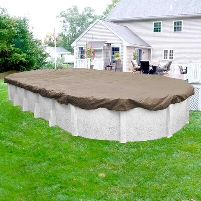 Pool Mate Pool Mate Sandstone Winter Pool Cover For Oval Above Ground Swimming Pools 18 X 33 Ft Pool In The Pool Covers Department At Lowes Com