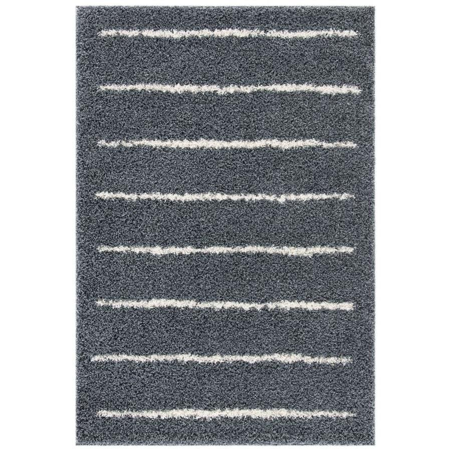 Safavieh Venus Raquelina Shag 5 X 8 Dark Gray Ivory Indoor Stripe Area Rug In The Rugs Department At Lowes Com