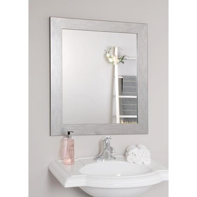 W Silver Framed Wall Mirror At Lowes