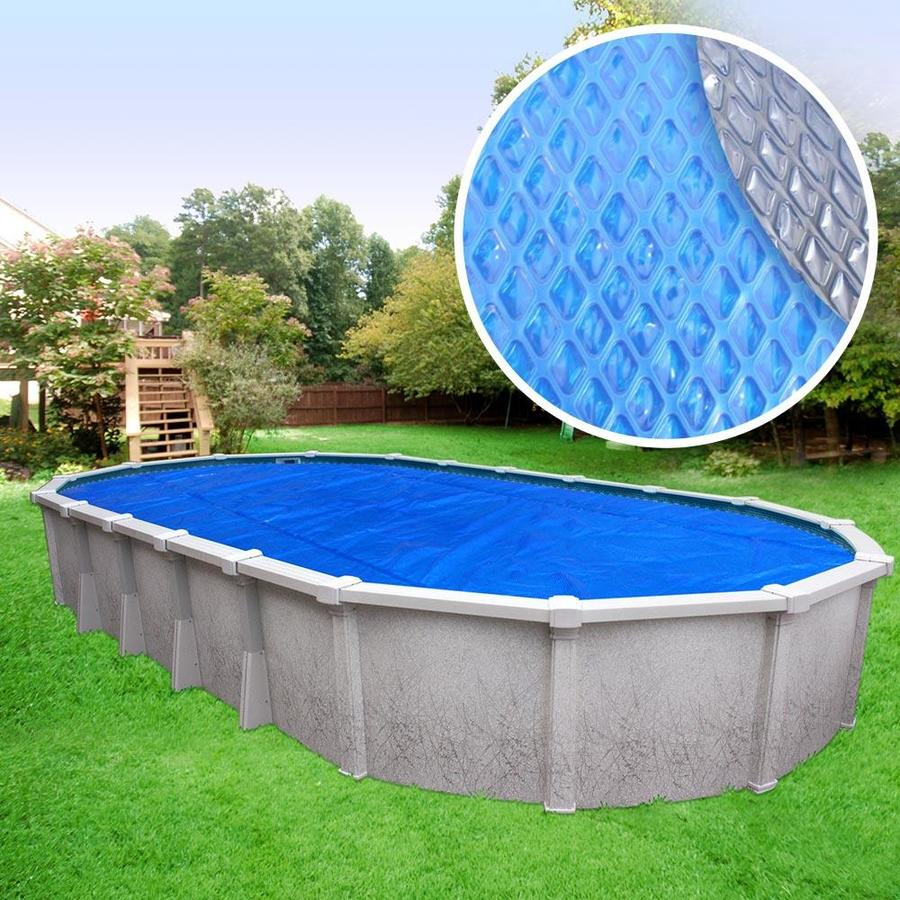 Pool Mate Pool Mate Silver Premium Solar Pool Cover For Oval Above Ground Swimming Pools 15 X 30 Ft Pool In The Pool Covers Department At Lowes Com