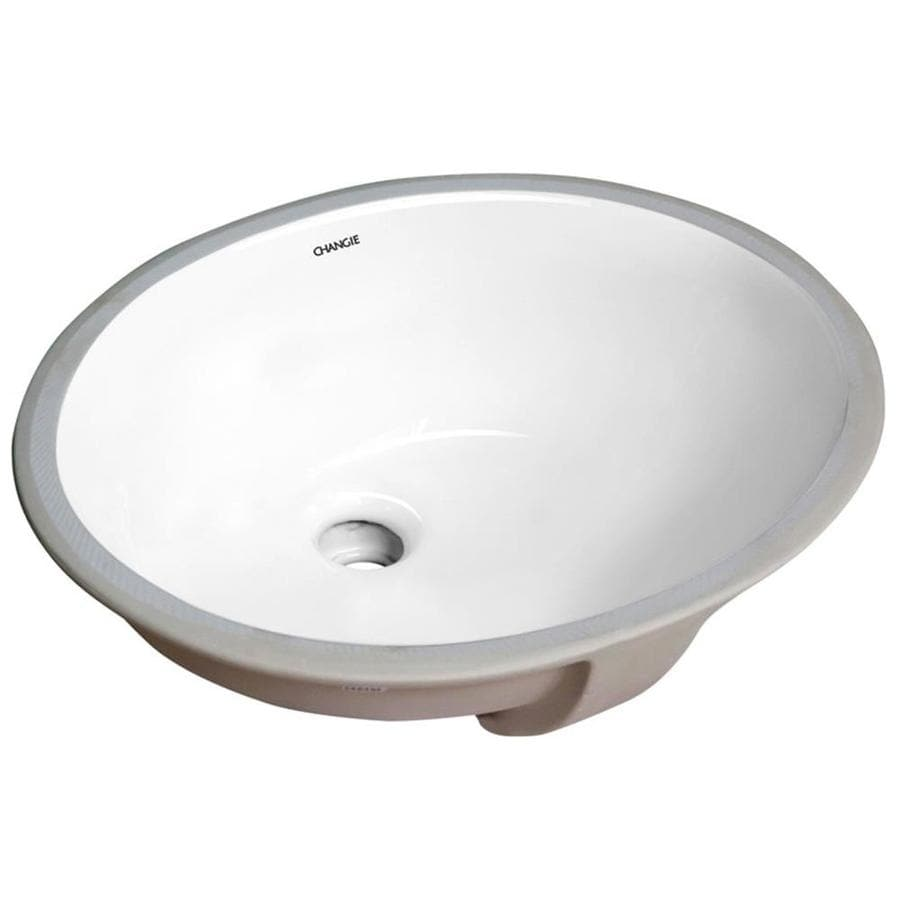 Casainc White Porcelain Undermount Round Trough Bathroom Sink 13 In X 11 In In The Bathroom Sinks Department At Lowes Com