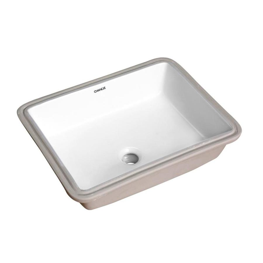 Casainc White Porcelain Undermount Rectangular Trough Bathroom Sink 17 In X 13 In In The Bathroom Sinks Department At Lowes Com