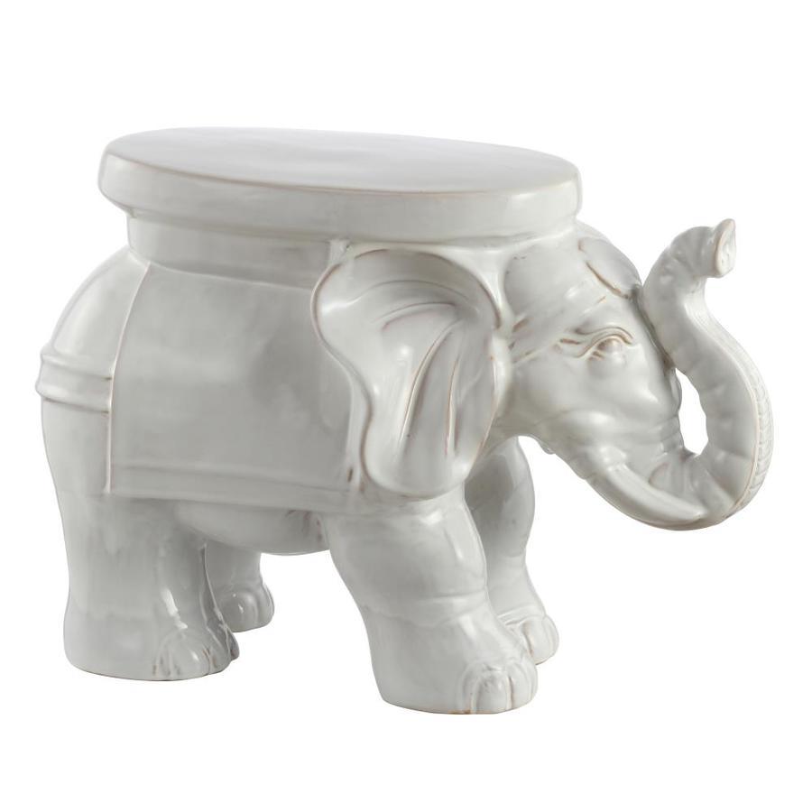 White Elephant Planter Glaze Finish