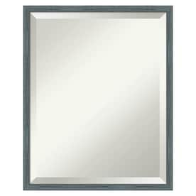 Amanti Art Svelte Clay Grey Frame Collection 19 25 In Svelte Clay Grey Rectangular Bathroom Mirror In The Bathroom Mirrors Department At Lowes Com