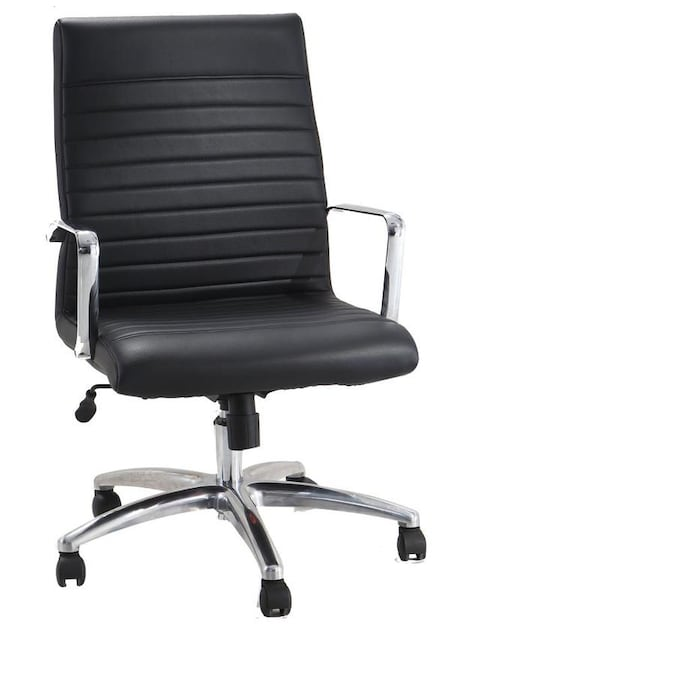 Adiroffice Adiroffice Faux Black Leather Executive Office Chair With Adjustable Height 2 Pack In The Office Chairs Department At Lowes Com