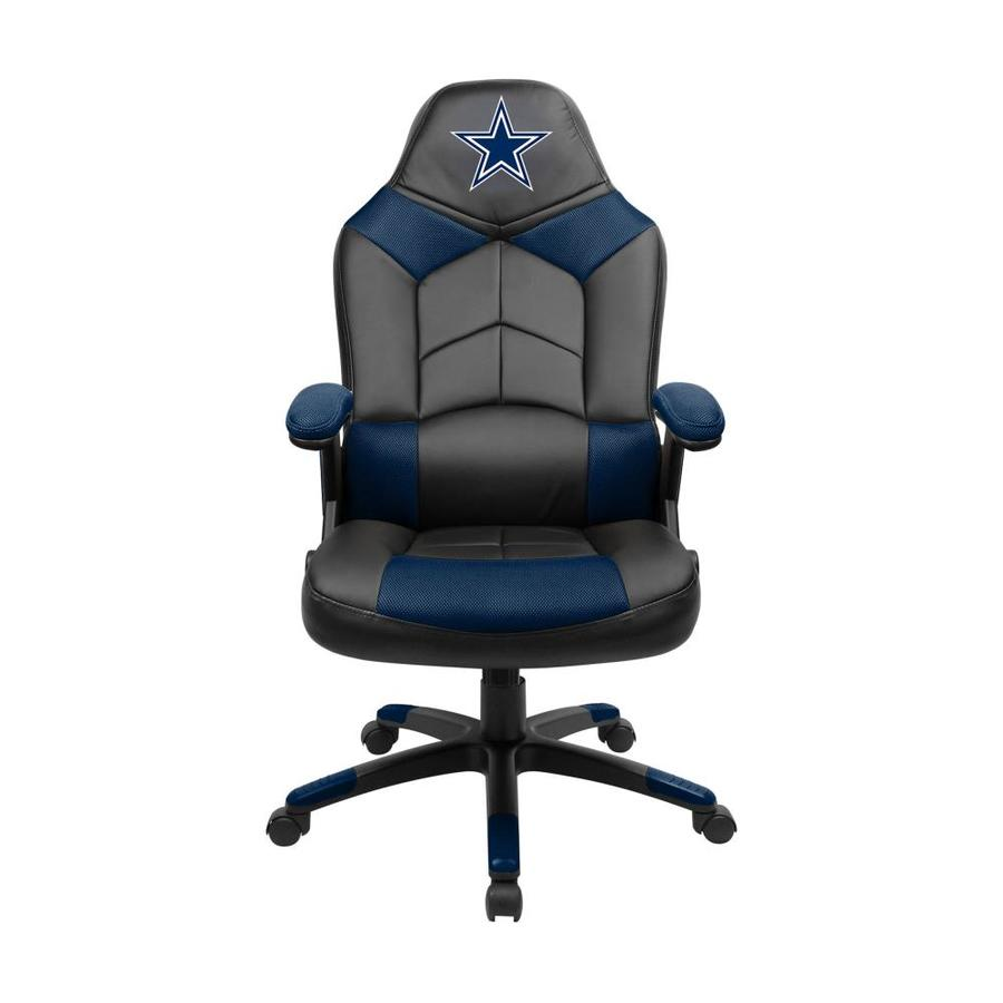 Imperial International Dallas Cowboys Casual Multicolor Faux Leather Gaming Chair In The Office Chairs Department At Lowes Com