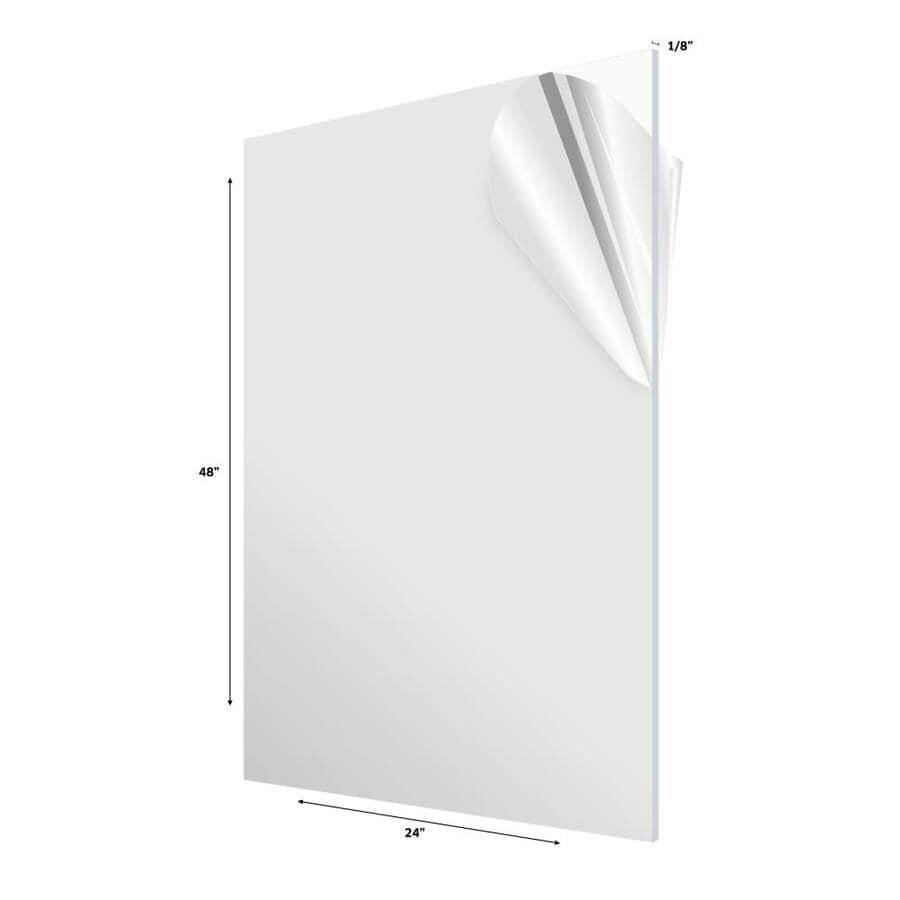 Adiroffice Adiroffice 24 In X 48 In X 1 8 In Clear Plexiglass Acrylic Sheet 3 Pack In The Plastic Sheeting Film Department At Lowes Com