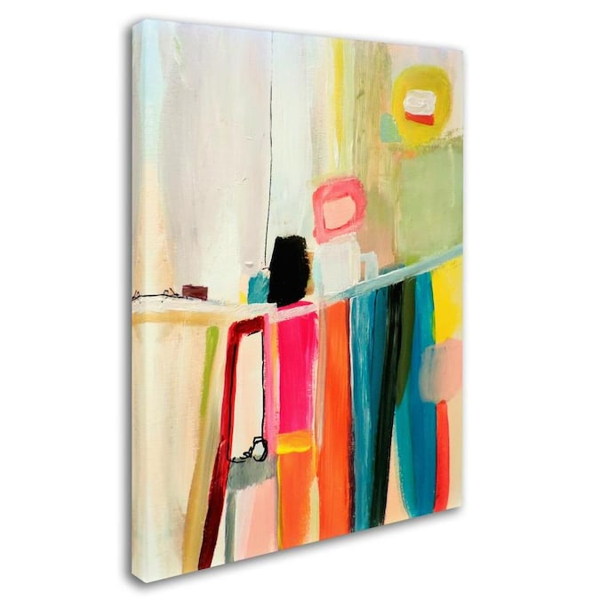 Trademark Fine Art Abstract Framed 32 In H X 24 In W Abstract Canvas Print In The Wall Art Department At Lowes Com