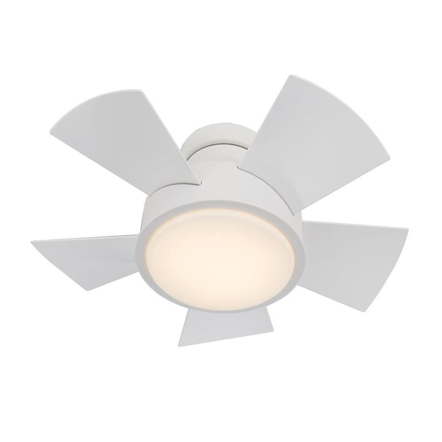 Modern Forms Vox Matte White 26 In Led Indoor Outdoor Flush Mount Smart Ceiling Fan 5 Blade In The Ceiling Fans Department At Lowes Com