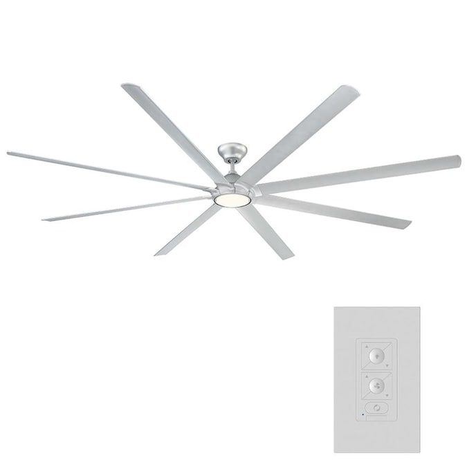Modern Forms Hydra 120 In Gloss Silver Led Indoor Outdoor Downrod Smart Ceiling Fan With Wall Mounted Remote 8 Blade In The Ceiling Fans Department At Lowes Com
