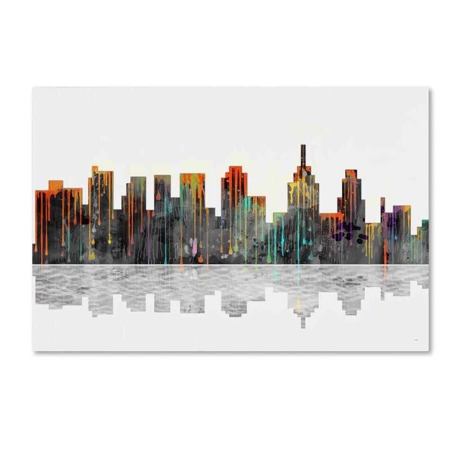 Trademark Fine Art Cityscapes Framed 16 In H X 24 In W Cityscape Canvas Print In The Wall Art Department At Lowes Com