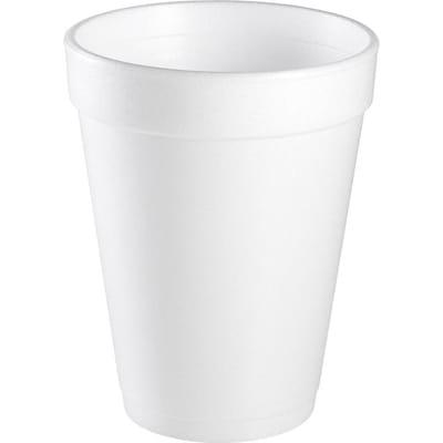 UKB411 12oz Polystyrene Dart Insulated Foam Poly Cups 1000