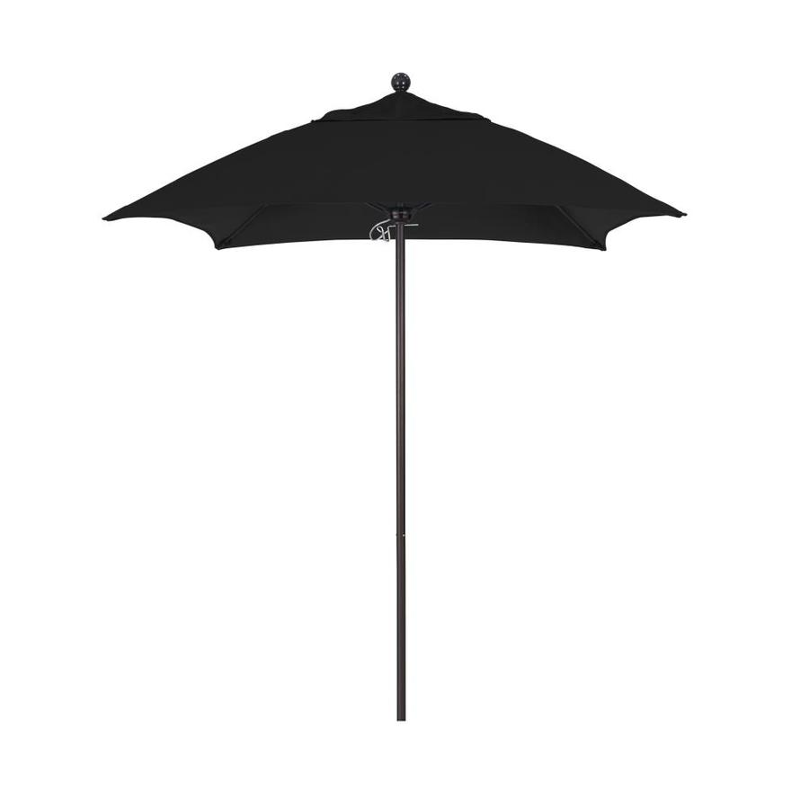 Umbrella 6 Ft Square Black With Bronze