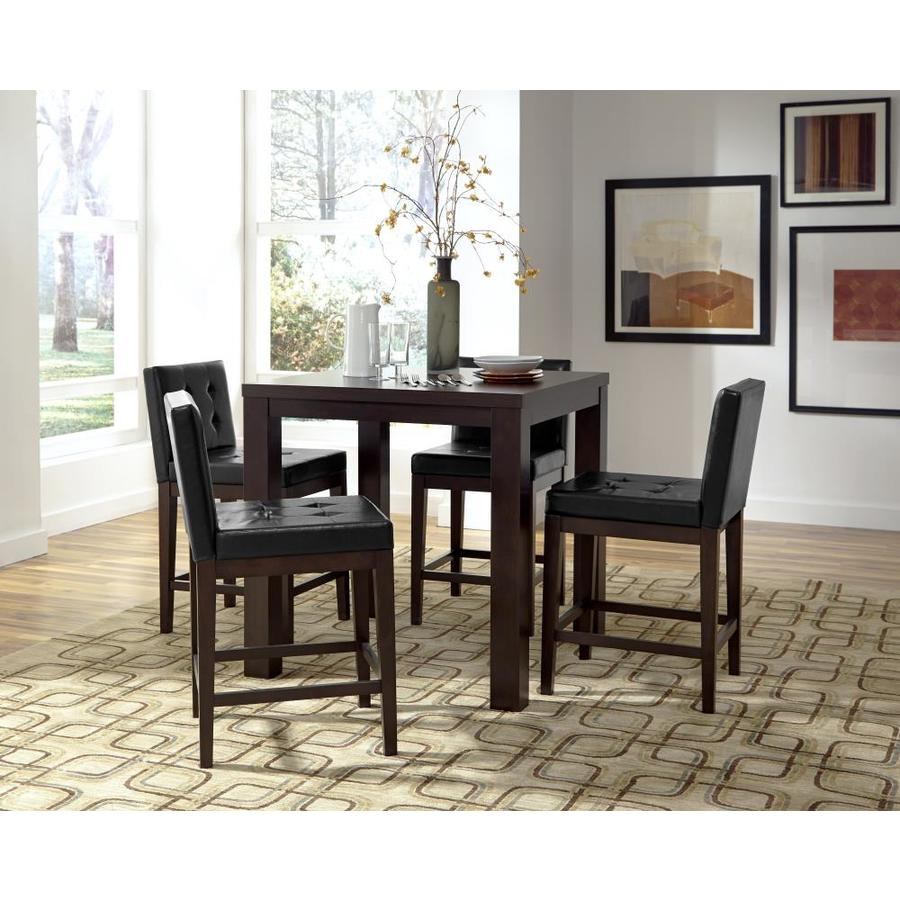 Progressive Furniture Athena Dark Chocolate Counter Table Wood Veneer With Dark Chocolate Wood Base In The Dining Tables Department At Lowes Com