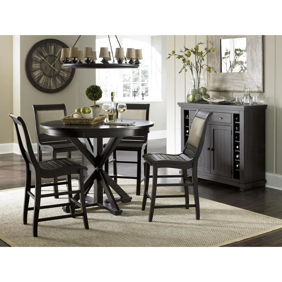 Progressive Furniture Willow Distressed Black Round Counter Table Wood Veneer With Distressed Black Wood Base In The Dining Tables Department At Lowes Com