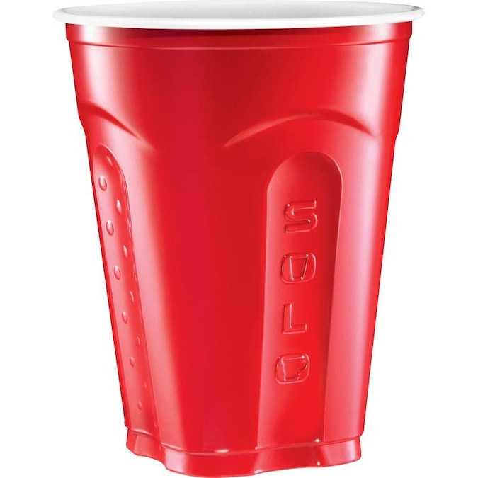 Solo Cup 16 oz Plastic Cold Party Cups 50 // Pack Plastic, Red 16 fl oz