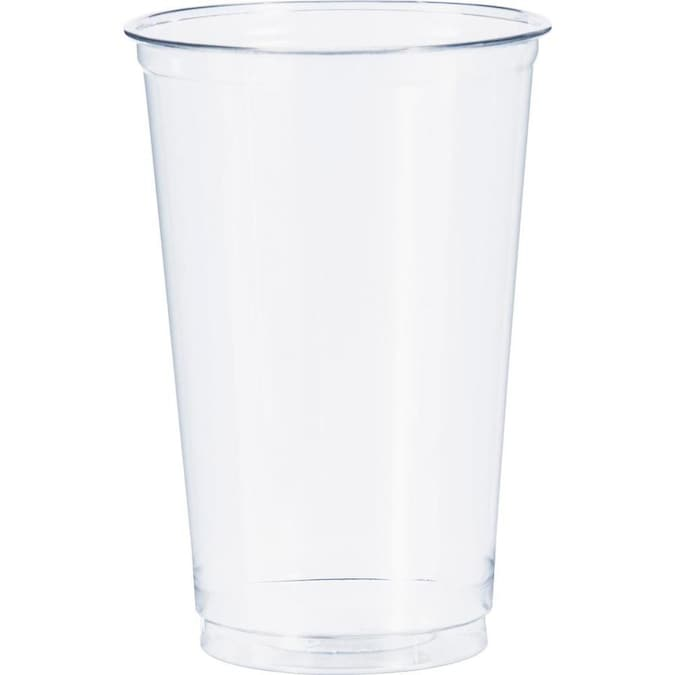 Solo 1000 Count 20 Oz Clear Plastic Disposable Cup In The Disposable Cups Department At Lowes Com