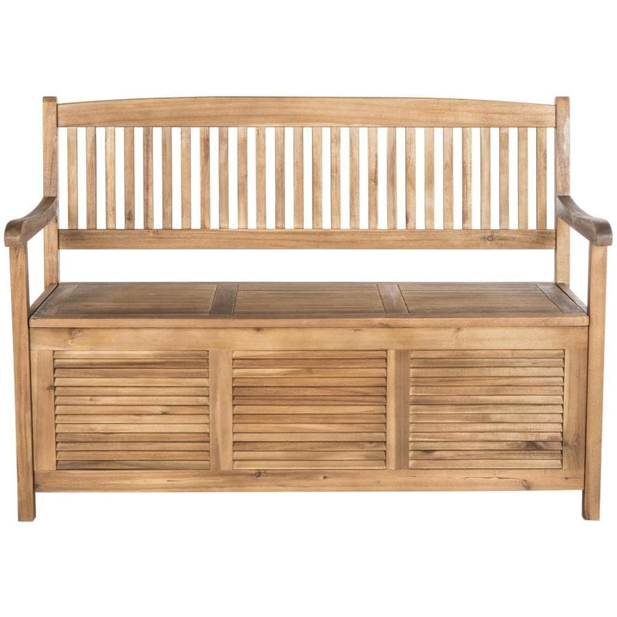 Safavieh Brisbane 50 In W X 35 2 In L Natural Bench In The Patio Benches Department At Lowes Com