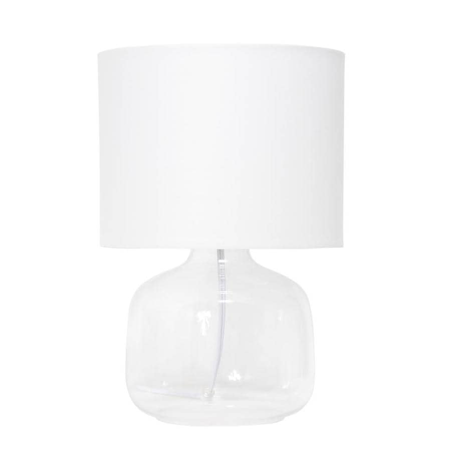 JONATHAN Y JYL1079C-SET2 Table Lamp 15 x 15 x 28.5 Clear with White Shade