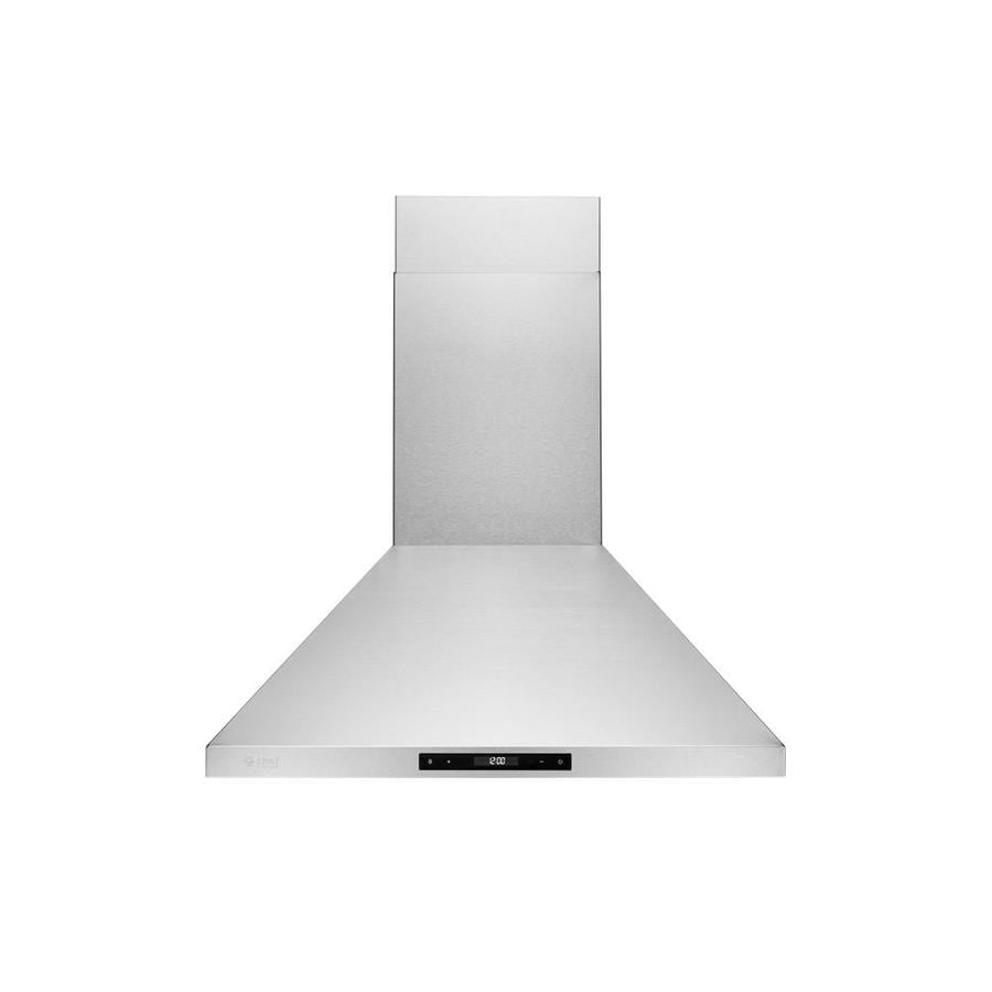 Hauslane 30 In Convertible Stainless Steel Wall Mounted Range Hood In The Wall Mounted Range Hoods Department At Lowes Com