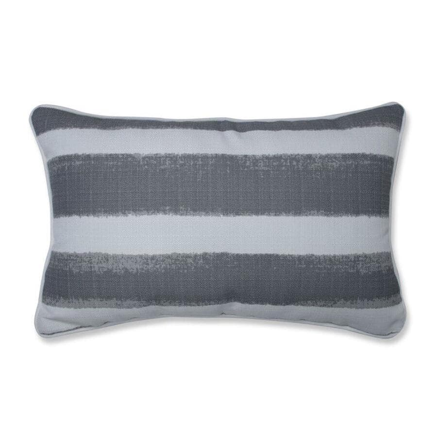 Pillow Perfect Nico Sea Salt 2 Piece 11 1 2 In X 18 1 2 In Grey Cotton Rectangular Indoor Decorative Pillow In The Throw Pillows Department At Lowes Com