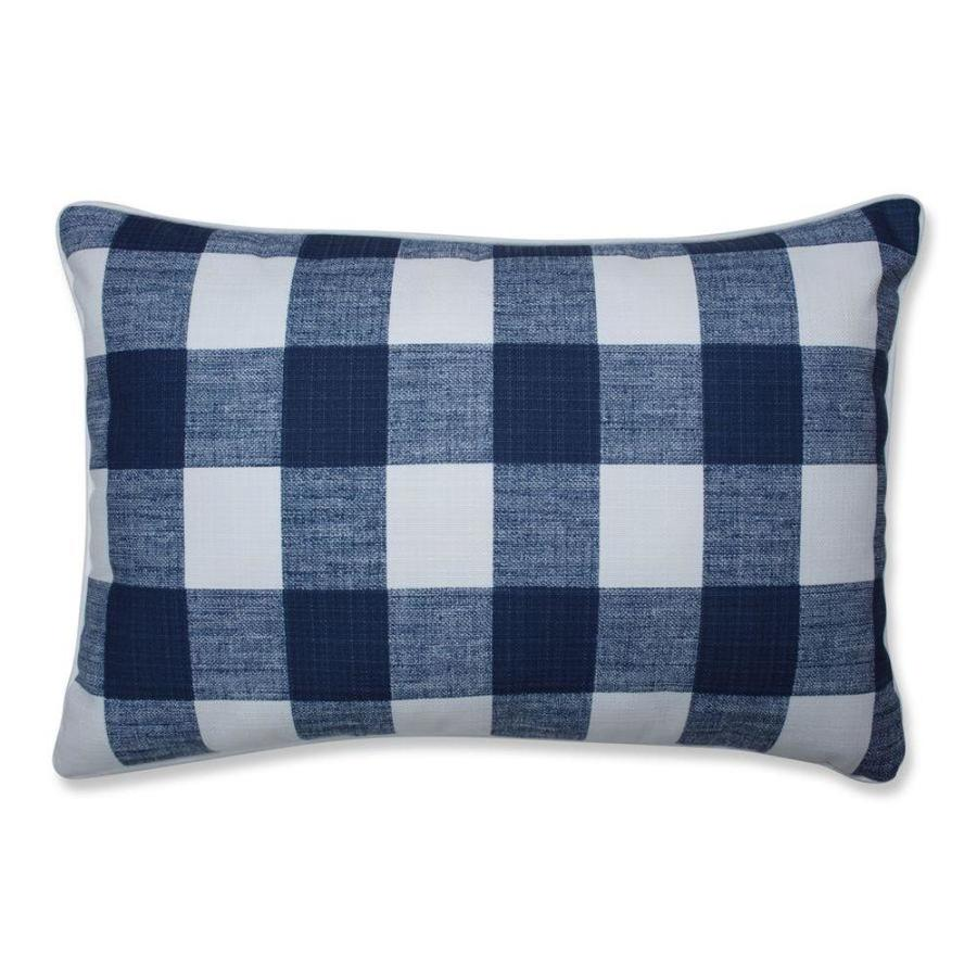 Pillow Perfect Anderson Zaffre 2 Piece 16 1 2 In X 24 1 2 In Blue Cotton Rectangular Indoor Decorative Pillow In The Throw Pillows Department At Lowes Com