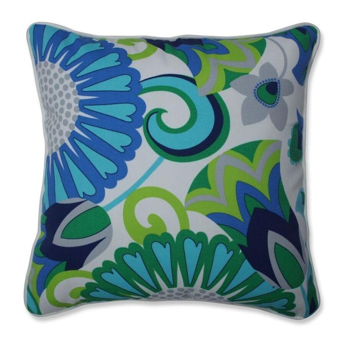 Pillow Perfect Sophia Turquoise Green 2 Piece 16 5 In W X 16 5 In L Indoor Decorative Pillow In The Throw Pillows Department At Lowes Com