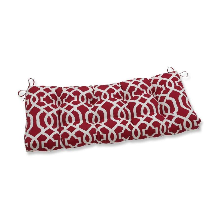 Pillow Perfect New Geo Red Red Patio Bench Cushion In The Patio Furniture Cushions Department At Lowes Com