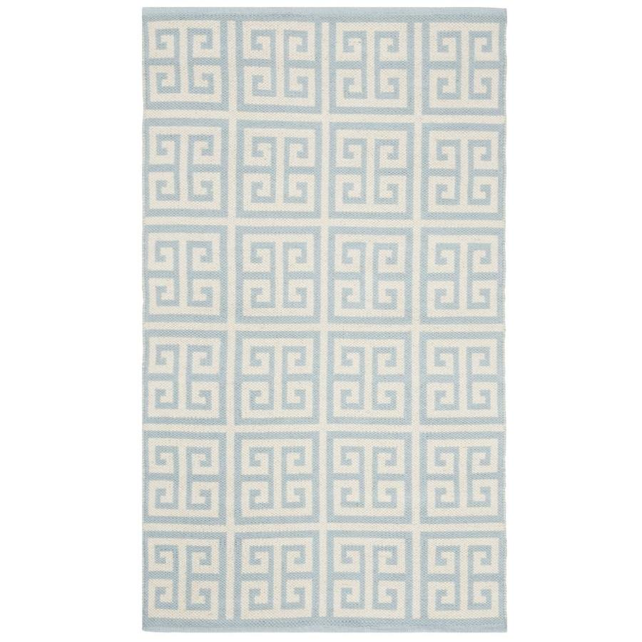 Safavieh Montauk Topsail 3 X 5 Light Blue Ivory Indoor Abstract Handcrafted Throw Rug In The Rugs Department At Lowes Com
