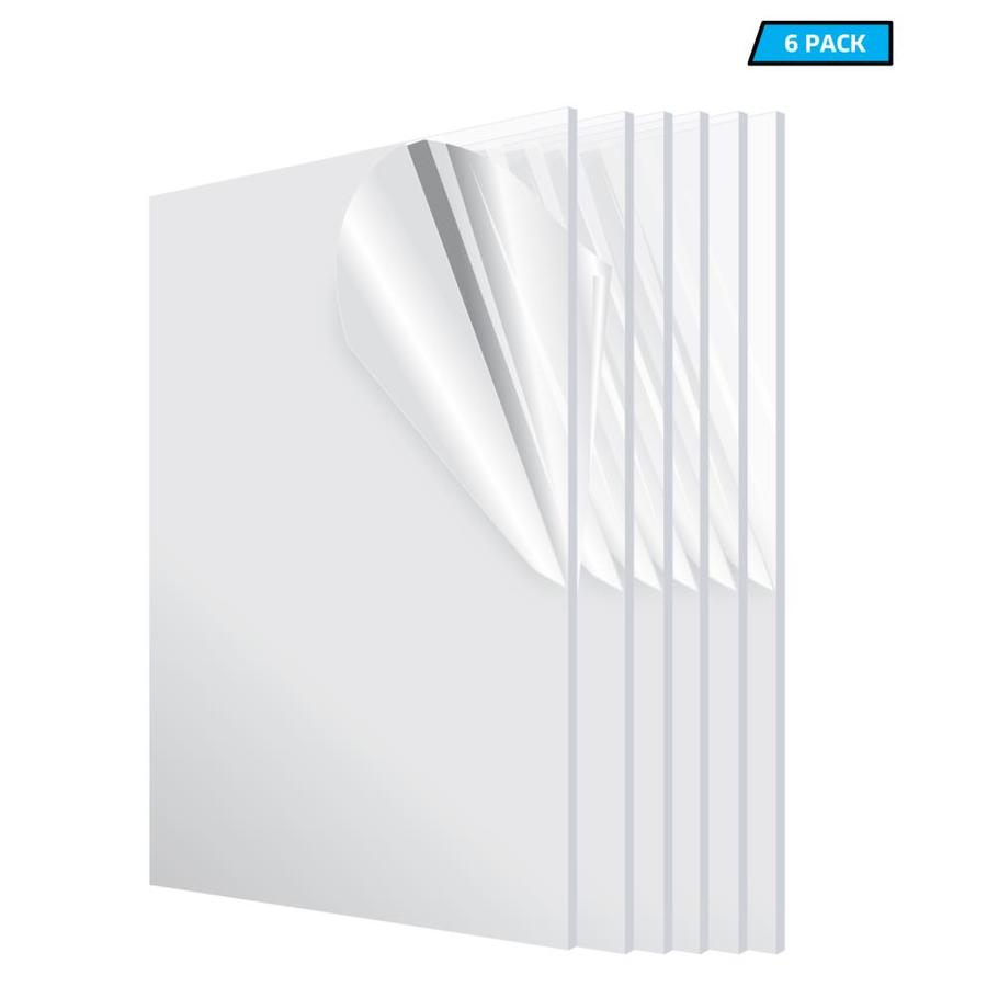Adiroffice 12 In X 24 In X 1 8 In Plexiglass Acrylic Sheet 6 Pack At Lowes Com