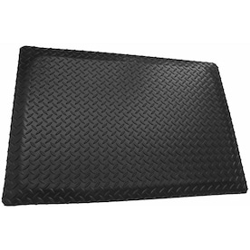 Rhino Mats Diamond Plate Black Double Black Rectangular Indoor Anti Fatigue Mat In The Mats Department At Lowes Com