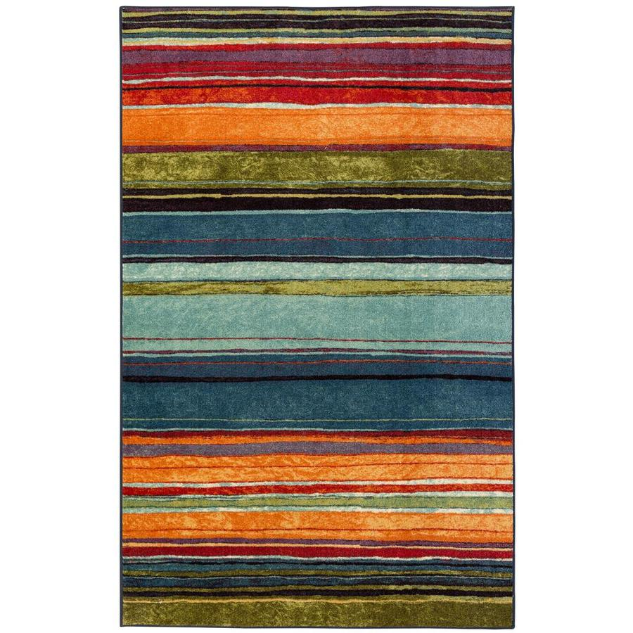 Mohawk Home New Wave 3 X 5 Multi Stripe Area Rug In The Rugs Department At Lowes Com