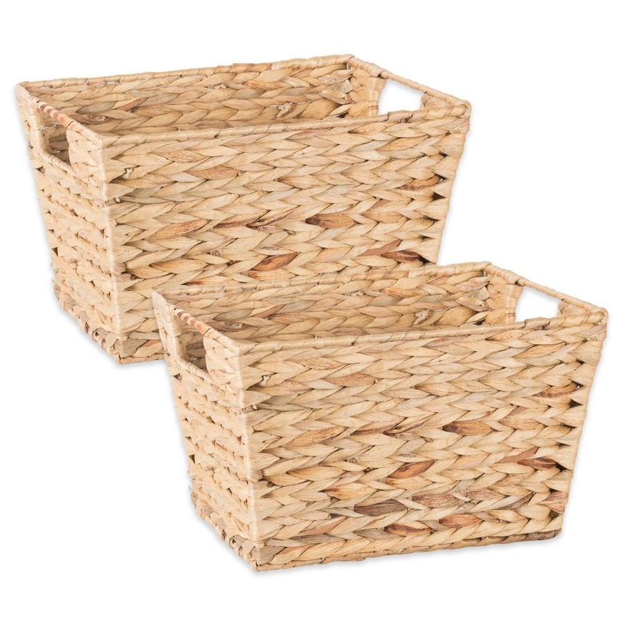 Dii 2 Pack 9 In W X 7 In H X 11 In D Hyacinth Iron Basket In The Storage Bins Baskets Department At Lowes Com