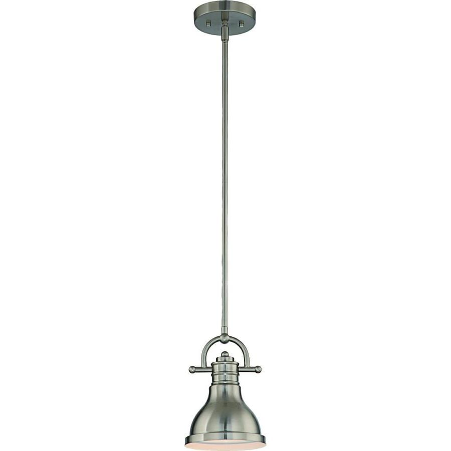 Volume Lighting Brushed Nickel Modern Contemporary Bell Mini Pendant Light In The Pendant Lighting Department At Lowes Com