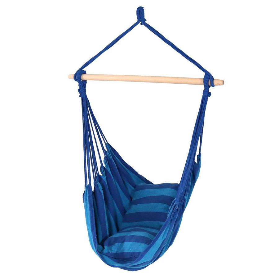 Sunnydaze Decor Hanging Hammock Chair Swing Indoor Outdoor Use 264 Pound Capacity Includes 2 Seat Cushions Oasis In The Hammocks Department At Lowes Com