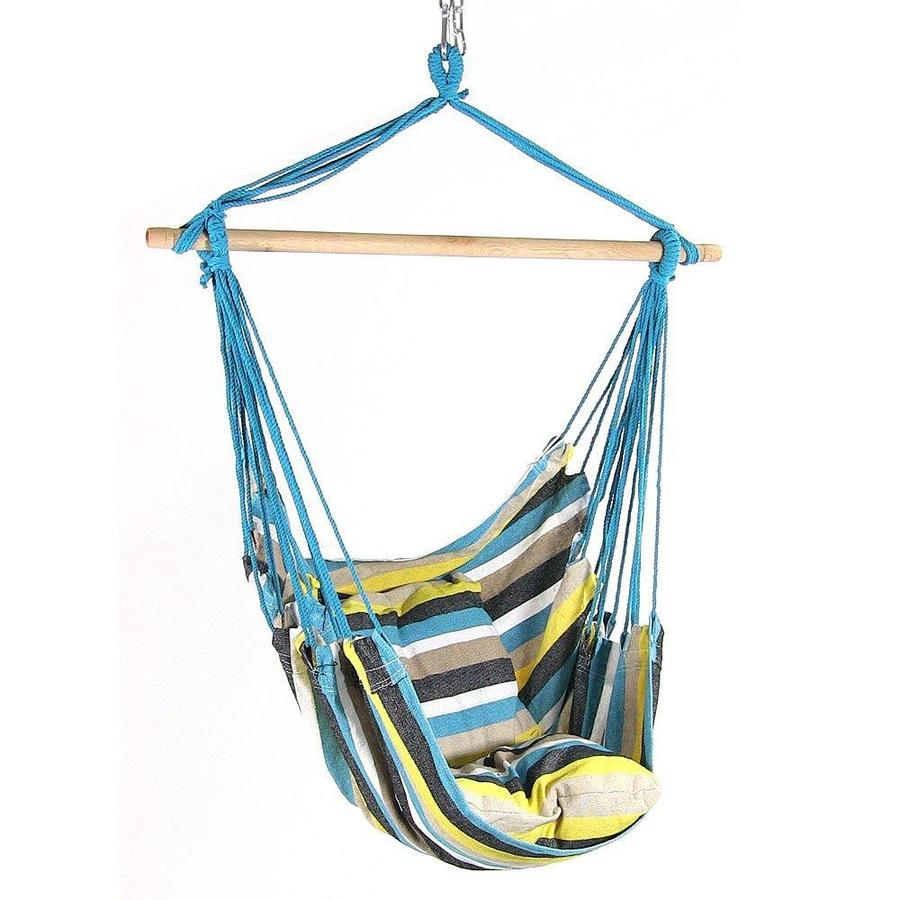 Sunnydaze Decor Hanging Hammock Chair Swing Ocean View For Indoor Or Outdoor Use Max Weight 264 Pounds Includes 2 Seat Cushions In The Hammocks Department At Lowes Com